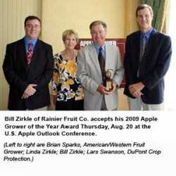 Washington's Bill Zirkle Honored As 2009 Apple Grower Of The Year
