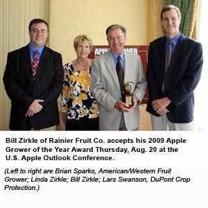 Washington's Bill Zirkle Honored As 2009 Apple Grower Of The Year