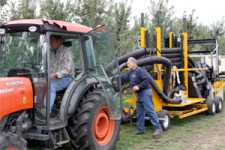 Vacuum Apple Harvester