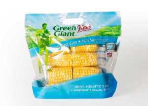 "The grab-and-go-designed bags hold 12 corn cobbettes per consumer package. Each ""cobbette"" is individually wrapped in steam-fresh microwavable bags."