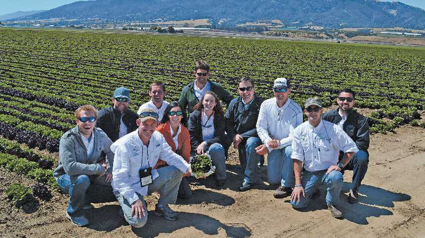 Members of Class 3 of FFVA's Emerging Leader Development Program toured artisan lettuce production at Tanimura & Antle in Salinas, CA. Photo by Lisa Lochridge