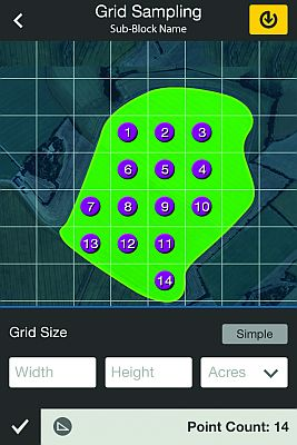 In the first step in using AgVerdict, a field agronomist or Pest Control Adviser (PCA) GPS-maps a field using an iPhone loaded with the AgVerdict app, tracing a field's contours in an ATV.