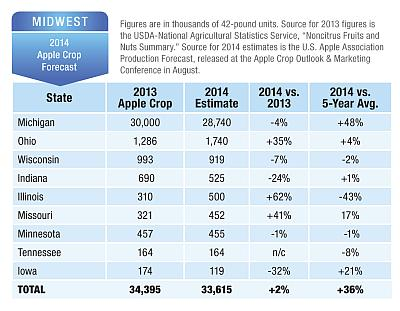 Apple Crop Outlook Midwest