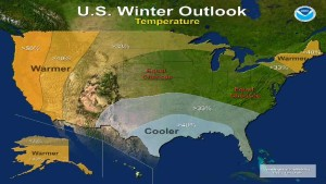 NOAA's Winter Weather Outlook Runs Hot And Cold