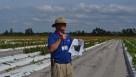 UF/IFAS researcher Dr. Gary Vallad addresses questions during the Vegetable Health field tour about nematicide options. Vallad mentioned impressive results from the new product Nimitz. Photo by Paul Rusnak