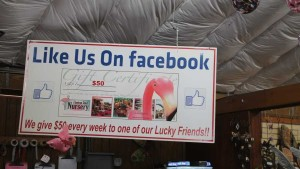 Facebook promo at Flamingo Road