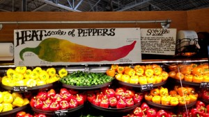 Clever pepper display at Giant Eagle Market