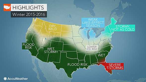 Accuweather.com's winter 2015-2016 forecast map