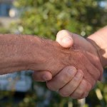 a firm handshake signifies a done deal