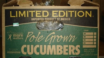 "Packing carton of ""Limited Edition"" pole grown cucumbers recalled by Andrew & Williamson Fresh Produce. (Photo credit: CDC)"
