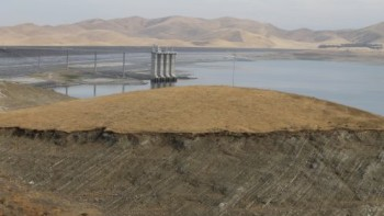 The San Luis Reservoir, California's fifth largest, in October 2015 after four years of drought. (Photo Credit: David Eddy)