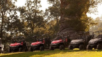 Mahindra North America's mPACT XTVs  include four camouflage models and two new Flexhauler models with enhanced cargo box capabilities as well as a limited special edition version of the XTV.