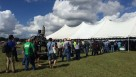 Long lunch line at 2015 Florida Ag Expo