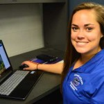 UF/IFAS grad student Tori Bradley studying cold weather's effects on growing blueberries