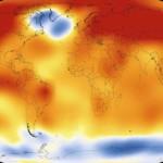 NASA's global temperature heat map for 2015