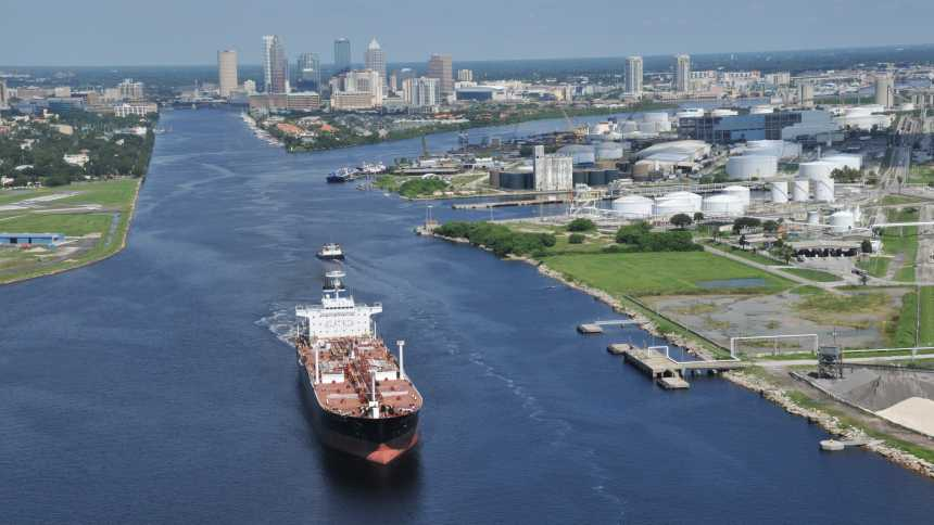 Port Tampa Bay shipping channel
