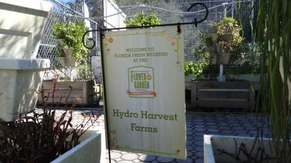 Hydro Harvest Farms' International Flower and Garden Festival sign