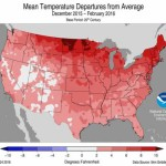 NOAA Winter 2015-2016 average temperatures map