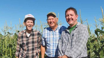 The principal players at Turek Farms include (from left) David, Frank Jr., and Jason Turek. Photo by Rosemary Gordon