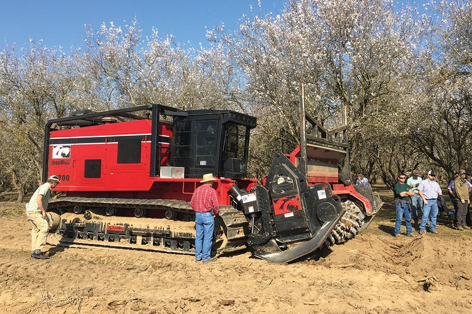 The newest model of the 100,000-pound Slasher is the 700B, and purchased new it costs about $1.3 million. However, IronWolf President Todd Howe says a Slasher can be mounted on a heavy-duty bulldozer, and sold separately the unit costs less than $500,000.