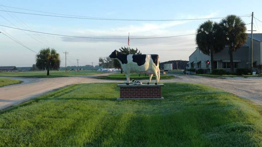 Main entrance to Alliance Dairies in Trenton, FL