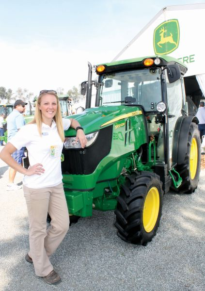 John Deere Tractor Shows : New narrow tractors are designed to twist and turn through