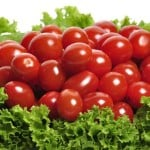 a plate full of cherry tomatoes