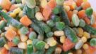 close-up of assorted frozen veggies