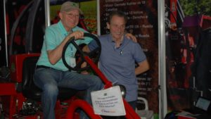 Entrepreneurs Horace Clemmons and Saul Berenthal are pushing their new business venture, Cleber, LLC, which will be producing low-tech tractors for small farmers. Photo courtesy of Horace Clemmons
