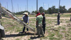 Precision Citrus LLC's shadeshouse construction site near Lake Wales, FL