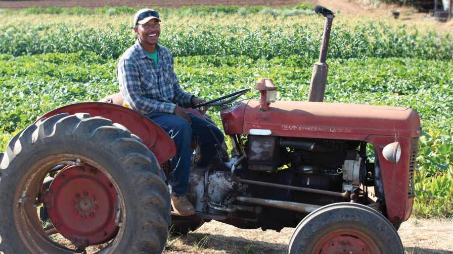 Farmer On Tractor : Organic farming programs can be eye opening growing produce