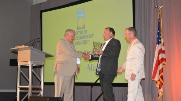 Marty McKenna presented with the 2016 Citrus Achievement Award