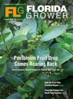 Florida Grower magazine cover August 2016