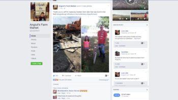 Anguili's Farm Market Facebook bike post FEATURE