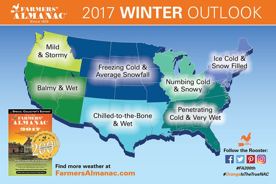 Farmers Almanac 2017 Winter