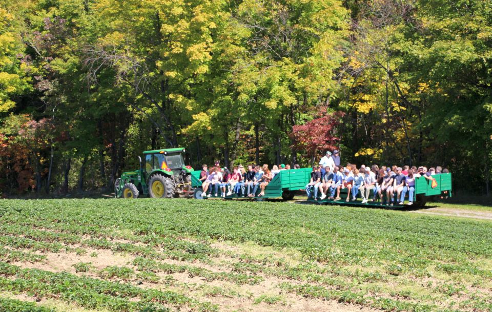 Tractor ride from Meister Mystery Trip at Pattersons