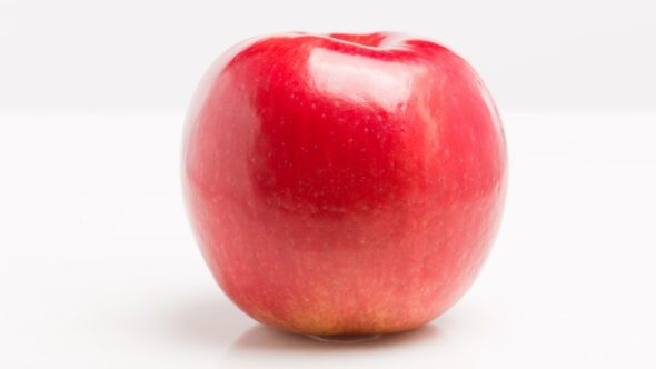 'Rave' is a cross between 'Honeycrisp' and an unreleased variety called 'MonArk.' 'Rave' was bred by the University of Minnesota and will be grown and sold exclusively by Stemilt in the U.S. (Photo credit: Stemilt)