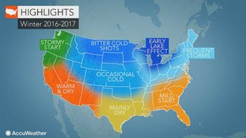 Accuweather Winter 2016-2017 forecast map