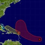 Atlantic tropical weather outlook map
