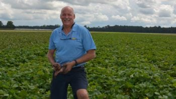 Danny Johns of Blue Sky Farms standing in his potato field in Northeast Florida