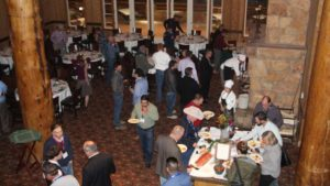 At the Connect, growers and suppliers had additional opportunities to network, including this dinner at the Empire Canyon Lodge in Park City, UT. Photo credit: Rosemary Gordon
