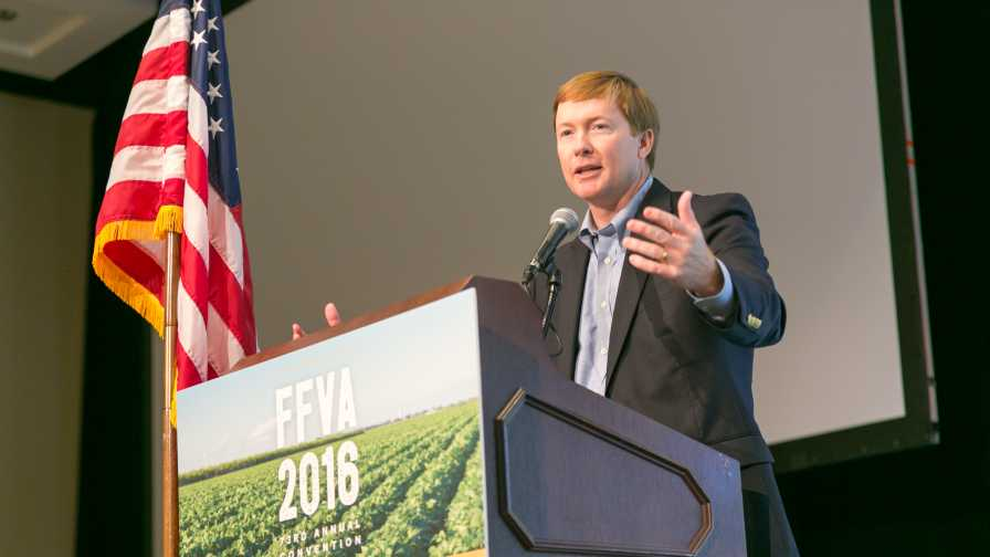 Adam Putnam speaking at the 2016 FFVA Annual Conference