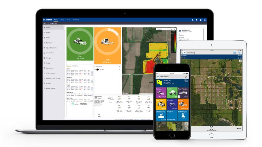Trimble is consolidating three of its agriculture software products — Connected Farm™, Farm Works Software® and Agri-Data® solutions—into one farm data management platform: Trimble® Ag Software.