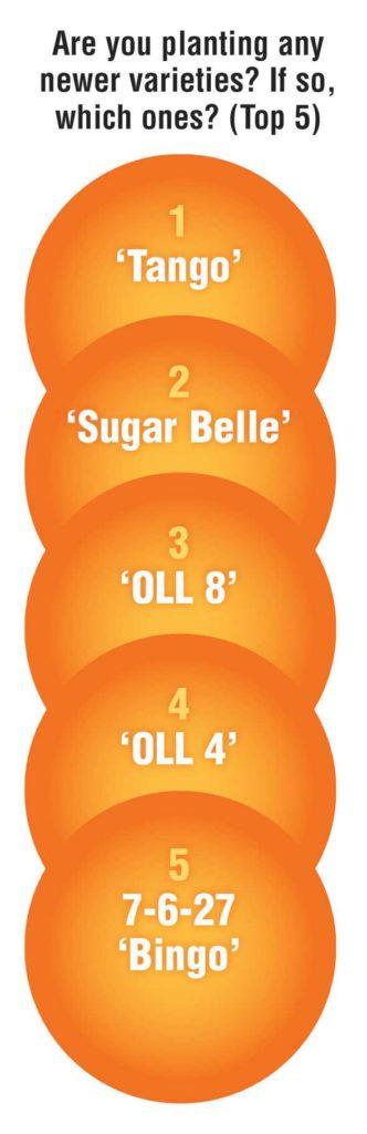 Annual Florida Citrus Survey Graphic: Top 5 varieties