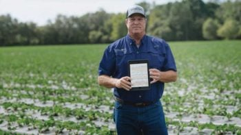 Example of how farmers can use iPads to track data around his operation