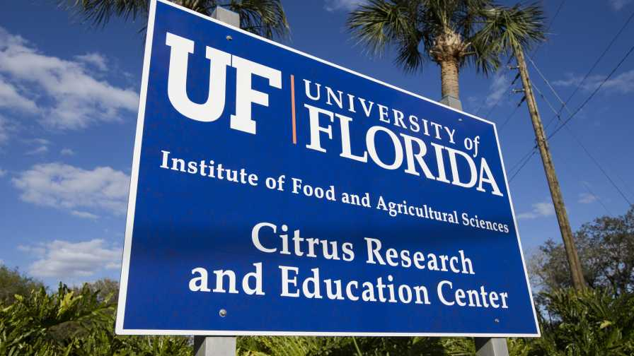 UF/IFAS Citrus Research and Education Center sign
