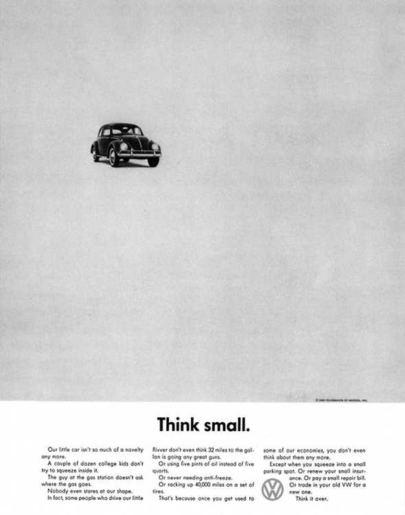 Vintage VW Beetle advertisement