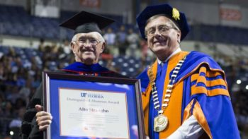 Alto Straughn receives distinguished alumnus award from UF President Kent Fuchs
