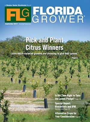 Sept. 2017 Florida Grower magazine cover