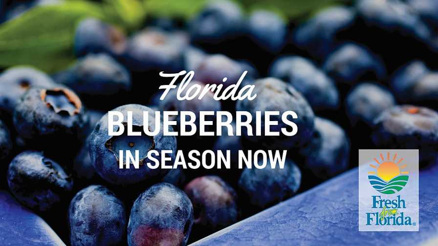 Fresh From Florida blueberries social media ad